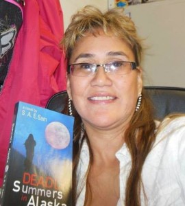 Shirley Sam with her newly written book, Deadly Summers in Alaska. Courtesy photo