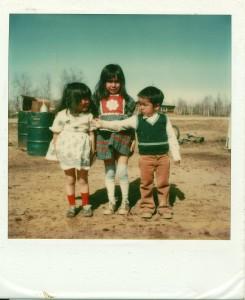 Tanya, Angela and Al Jr. were all one year apart. Photo by taken in Huslia by Eleanor Yatlin