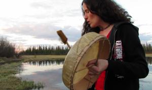 Karrie Pavish Anderson is drumming at Car Wash Lake. Courtesy photo