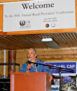 Bernice Joseph spoke at the Rural Providers' Conference held in Fairbanks in June 2013. Photo by Angela Gonzalez