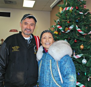 Stewart and Bernice Joseph were in Anchorage in December 2012. Photo by Angela Gonzalez