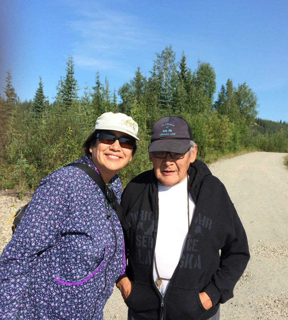Angela Gonzalez and Donald Bergman in Allakaket in the summer of 2014