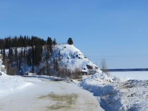 A hill overlooks the Yukon River at Nulato. Photo by Martha Demoski