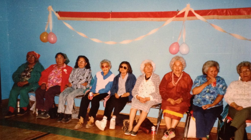 Elder ladies at a dance in Tok in 1991 during the Denakkanaaga Conference. Photo by Angela Gonzalez