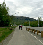 Becky Semler and Fred John, Jr. start out early on May 29 in Chugiak. Photo by Angela Gonzalez