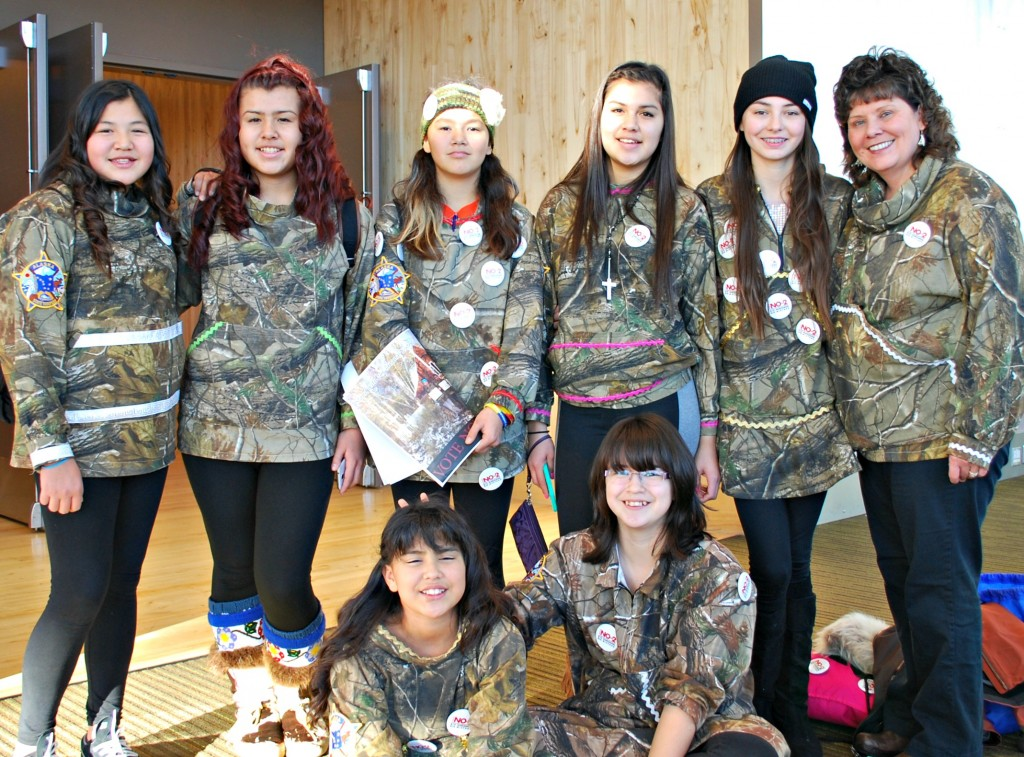 Tanana 4-H group members spoke up about domestic violence, sexual assault and alcohol abuse. Photo by Angela Gonzalez