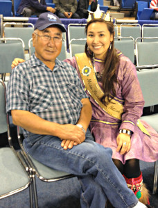 Chanda Simon and her maternal grandfather Sammy Chimegalrea, aka Taata. Courtesy photo