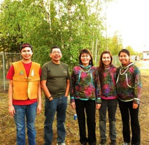 Chanda Simon and her family traveled to Huslia in August. Left-right: Randall, Christopher, Letha, Chanda and Chanel. Courtesy photo