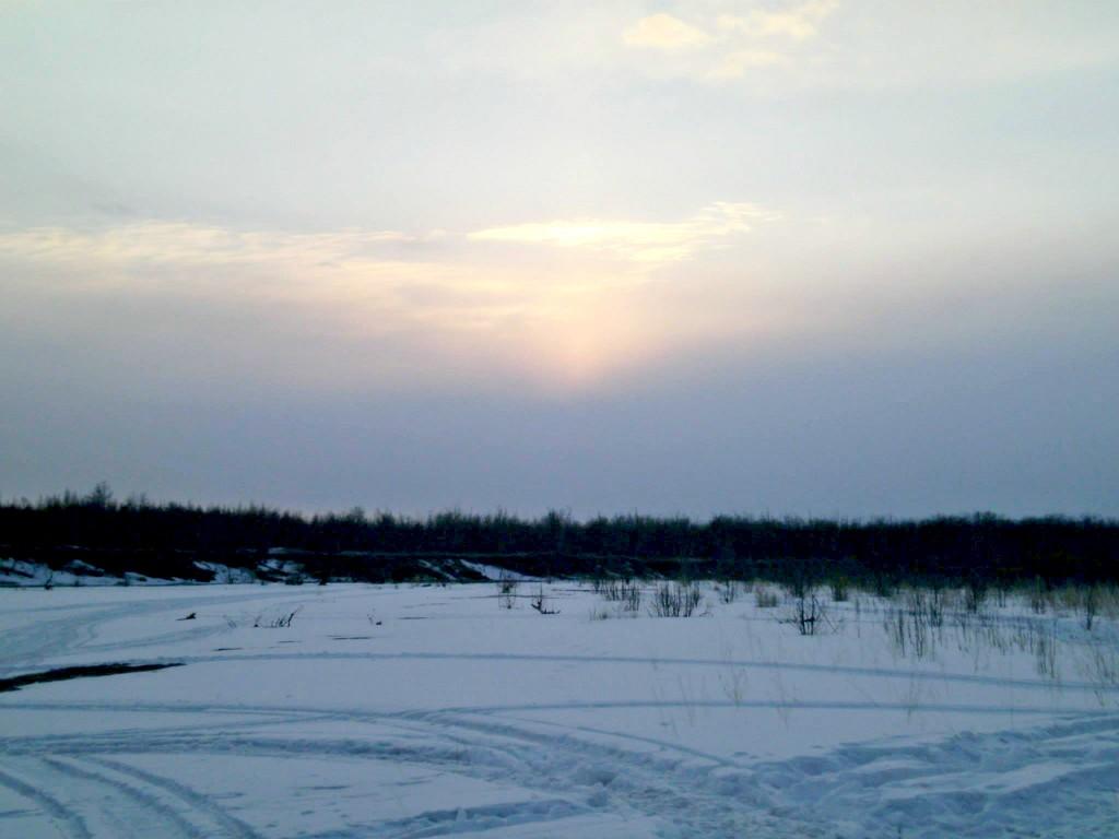 Wintertime near Huslia. Photo by Nathan Vent