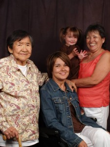 Teisha (in center) is pictured with her late Jennie Huntington (at left), her daughter, Tassy, and her mother, Marie Simmons. Courtesy photo