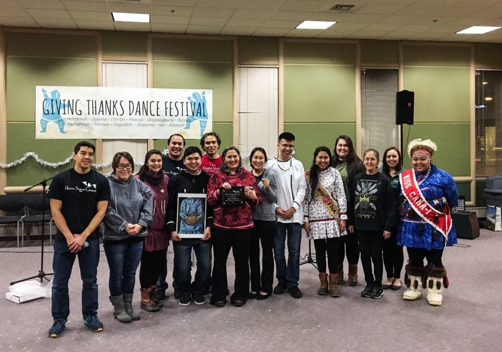 Native Student Council and awardee, Sheila Randazzo. Photo by Angela Gonzalez