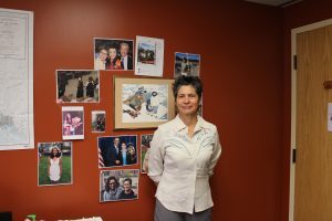 Heather Kendall-Miller in her office at the Native American Rights Fund. Photo by Angela Gonzalez