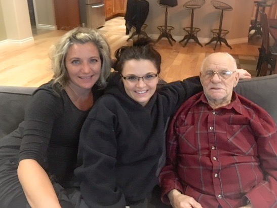 Tabetha with her daughter, Allison, and Grandpa Charles Toloff. Courtesy photo