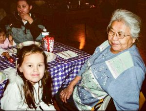 Angniq Woods-Orrison and her grandmother, Judy Woods. Courtesy photo