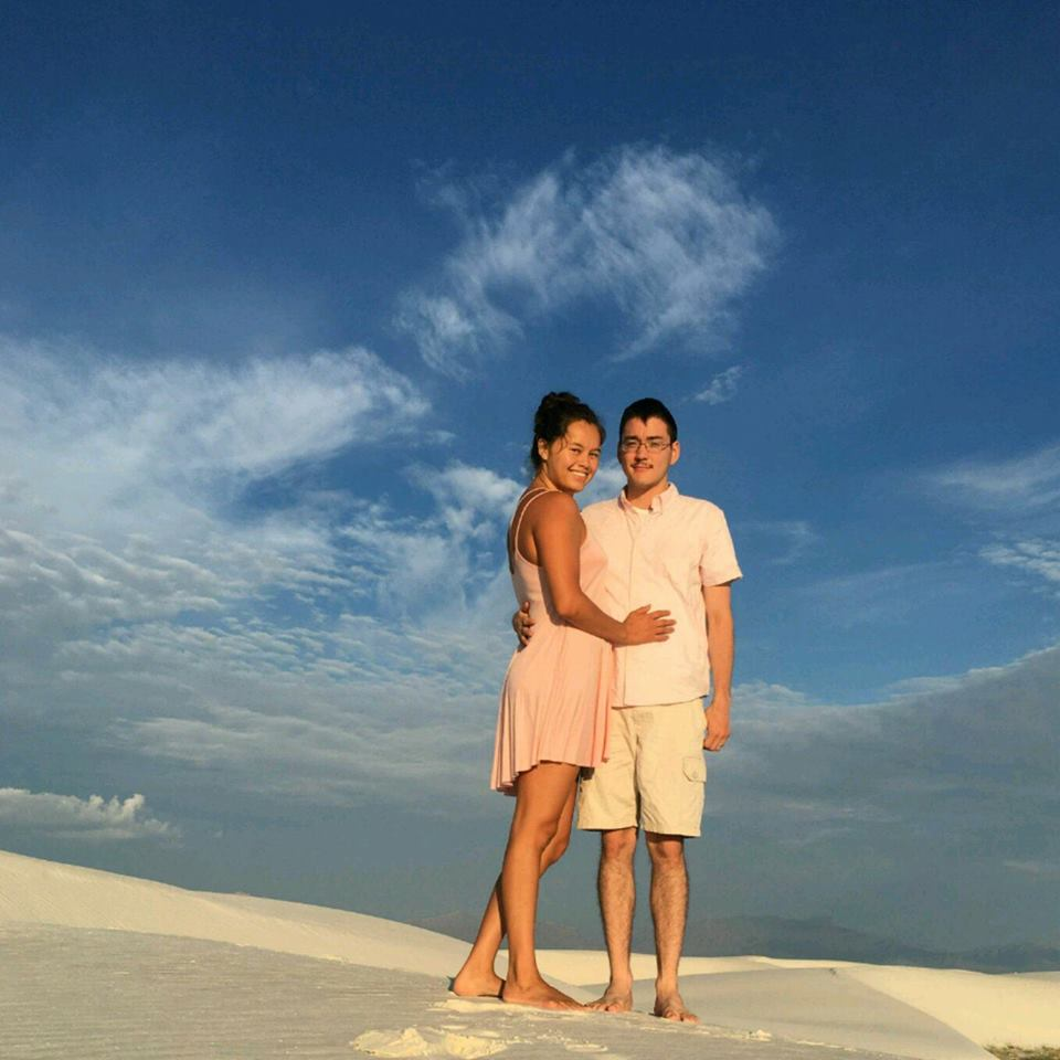 Angniq Woods-Orrison her fiancé, Mitchell, visited the White Sands National Park. Courtesy photo