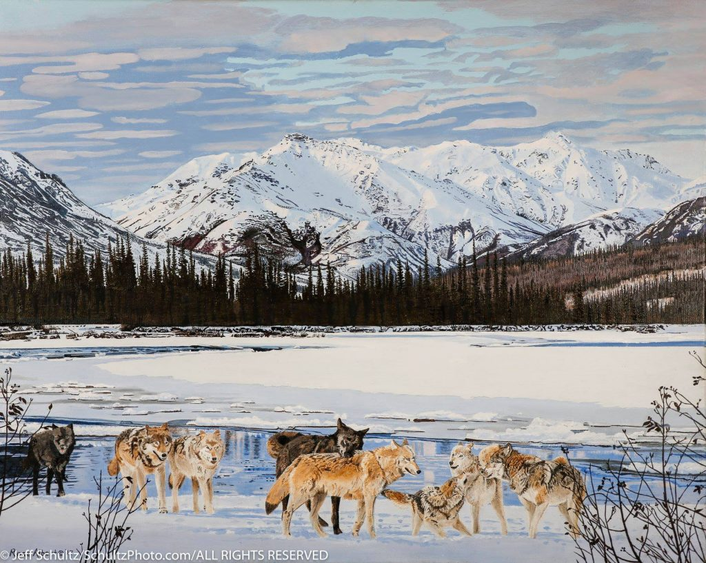 Rose Albert's painting is inspired by interior Alaska. Find her at Nowitna River Studios. Courtesy of Rose Albert