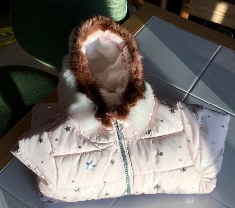 Sonia Vent sewed a fur ruff onto her granddaughter's parka. Courtesy photo