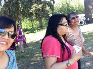 Alberta, her sister, April, and mother Grace. Photo courtesy of Alberta John