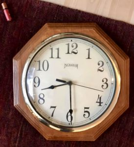 Scott Waterman's clock fell and stopped when the earthquake hit at 8:29 am on November 30th.